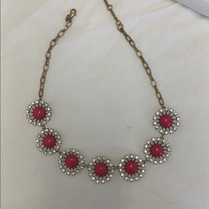 Hot pink J.Crew statement necklace